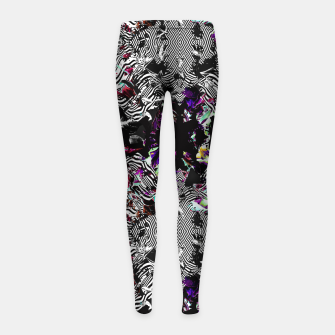 Miniaturka Strokes and abstract shapes on lines Leggings para niña, Live Heroes