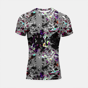 Miniaturka Strokes and abstract shapes on lines Shortsleeve Rashguard, Live Heroes