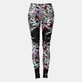 Miniaturka Strokes and abstract shapes on lines Leggings, Live Heroes