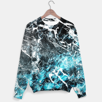 Thumbnail image of The cold frozen waves Sweater, Live Heroes