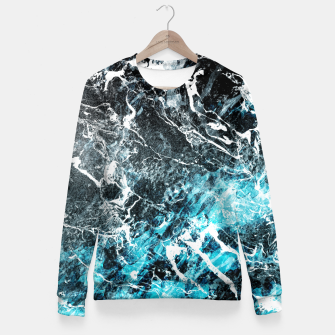 Thumbnail image of The cold frozen waves Fitted Waist Sweater, Live Heroes