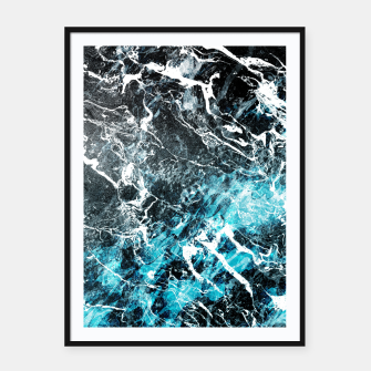 Thumbnail image of The cold frozen waves Framed poster, Live Heroes