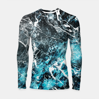 Miniatur The cold frozen waves Longsleeve Rashguard , Live Heroes