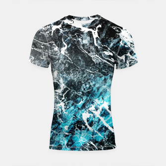 Miniaturka The cold frozen waves Shortsleeve Rashguard, Live Heroes