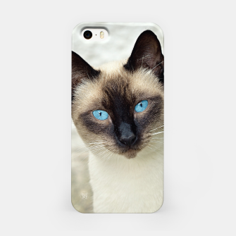 Imagen en miniatura de Blue eyes cat Carcasa por Iphone, Live Heroes