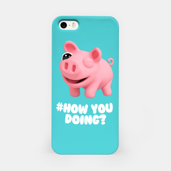 Thumbnail image of Rosa the Pig How you doing Blue iPhone Case, Live Heroes