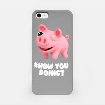 Thumbnail image of Rosa the Pig How you doing Grey iPhone Case, Live Heroes
