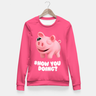 Miniaturka Rosa the Pig How you doing Pink Fitted Waist Sweater, Live Heroes
