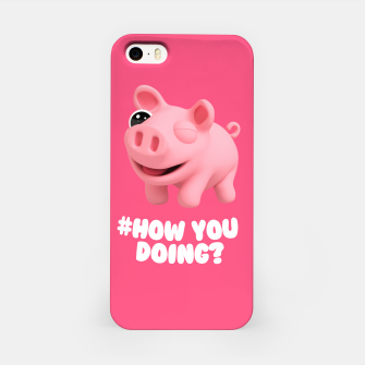 Thumbnail image of Rosa the Pig How you doing Pink iPhone Case, Live Heroes