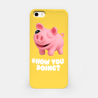 Thumbnail image of Rosa the Pig How you doing Yellow iPhone Case, Live Heroes
