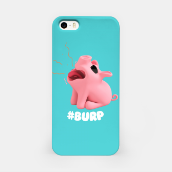 Thumbnail image of Rosa the Pig Burp Blue iPhone Case, Live Heroes
