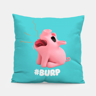 Thumbnail image of Rosa the Pig Burp Blue Pillow, Live Heroes
