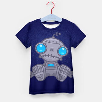 Thumbnail image of Sad Robot Kid's T-shirt, Live Heroes