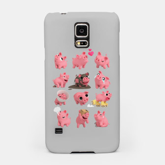 Thumbnail image of Rosa the Pig Grid Grey Samsung Case, Live Heroes
