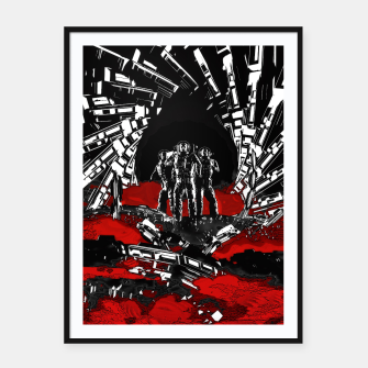 Thumbnail image of Astro Raiders Framed poster, Live Heroes