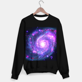 Ultra Violet Whirlpool Galaxy Sweater regular obraz miniatury