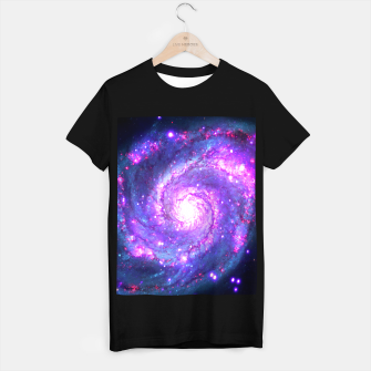 Ultra Violet Whirlpool Galaxy T-shirt regular obraz miniatury