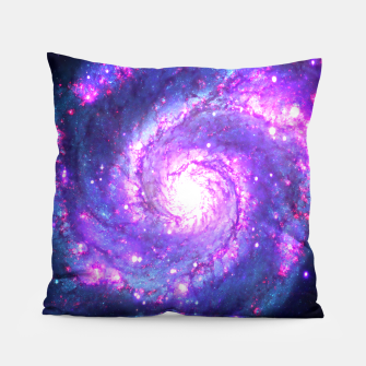 Ultra Violet Whirlpool Galaxy Pillow obraz miniatury