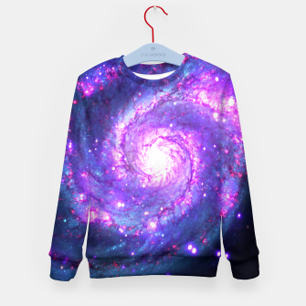 Ultra Violet Whirlpool Galaxy Kid's Sweater obraz miniatury
