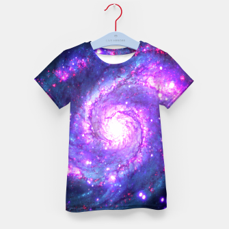 Ultra Violet Whirlpool Galaxy Kid's T-shirt thumbnail image
