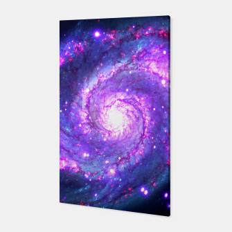 Ultra Violet Whirlpool Galaxy Canvas thumbnail image