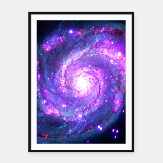 Miniaturka Ultra Violet Whirlpool Galaxy Framed poster, Live Heroes