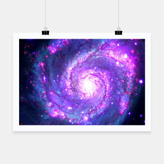 Ultra Violet Whirlpool Galaxy Poster thumbnail image