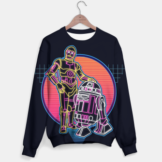 Thumbnail image of Starwars 80s retro scifi droid 3cpo r2d2 synthwave neon logo, Live Heroes