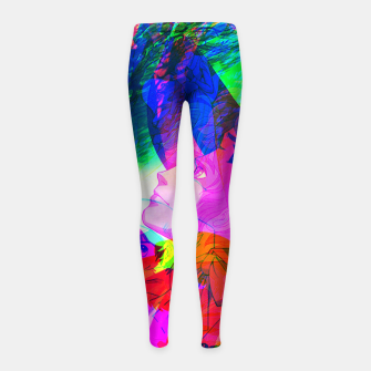 Thumbnail image of Nobodys Boy Remi Glitch Version Girl's Leggings, Live Heroes