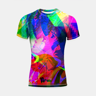 Thumbnail image of Nobodys Boy Remi Glitch Version Shortsleeve Rashguard, Live Heroes