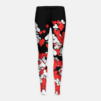 Thumbnail image of Poker Star II Girl's Leggings, Live Heroes