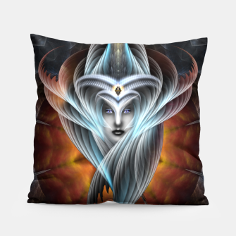 What Dreams Are Made Of Arcania Vision Fractal Art Pillow thumbnail image