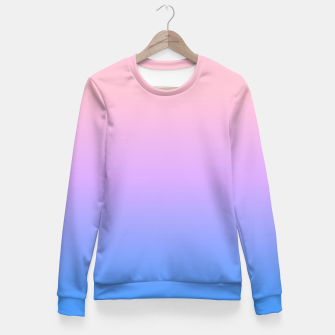 Thumbnail image of bright gradient Fitted Waist Sweater, Live Heroes
