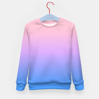 Thumbnail image of bright gradient Kid's Sweater, Live Heroes