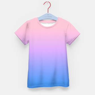Thumbnail image of bright gradient Kid's T-shirt, Live Heroes