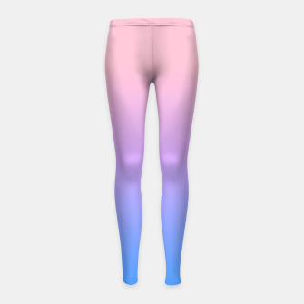 Thumbnail image of bright gradient Girl's Leggings, Live Heroes