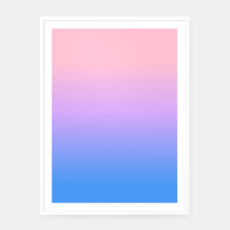 Thumbnail image of bright gradient Framed poster, Live Heroes
