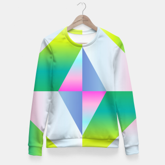 Thumbnail image of colorful vibration Fitted Waist Sweater, Live Heroes