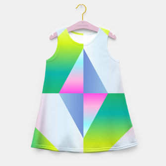 Thumbnail image of colorful vibration Girl's Summer Dress, Live Heroes