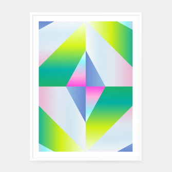 Thumbnail image of colorful vibration Framed poster, Live Heroes