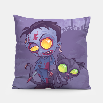 Thumbnail image of Pet Cemetery Pillow, Live Heroes