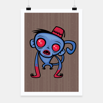 Thumbnail image of Zombie Monkey Poster, Live Heroes