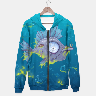 Thumbnail image of Zombie Fish Hoodie, Live Heroes