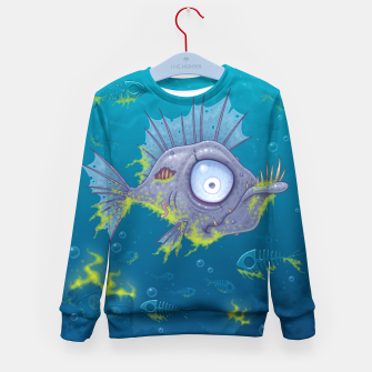 Thumbnail image of Zombie Fish Kid's Sweater, Live Heroes