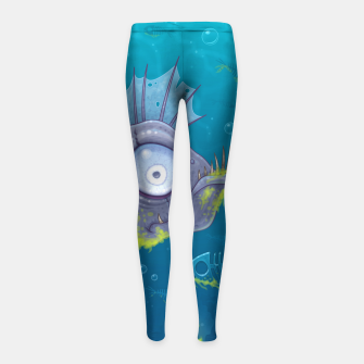 Thumbnail image of Zombie Fish Girl's Leggings, Live Heroes