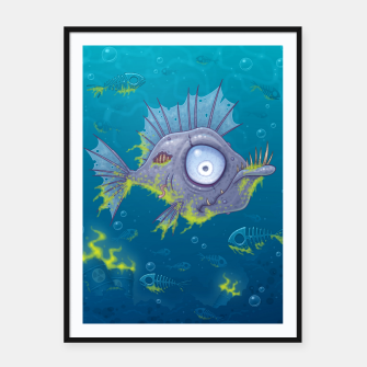 Thumbnail image of Zombie Fish Framed poster, Live Heroes