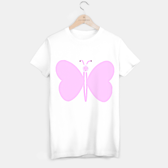 Thumbnail image of pink butterfly  - watercolor T-shirt regular, Live Heroes