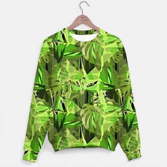 Thumbnail image of Tropical Jungle Greens Camouflage  Sweater, Live Heroes