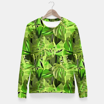 Thumbnail image of Tropical Jungle Greens Camouflage  Fitted Waist Sweater, Live Heroes
