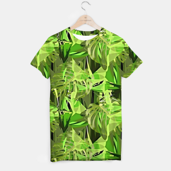 Thumbnail image of Tropical Jungle Greens Camouflage  T-shirt, Live Heroes